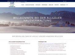 Allgäuer Hausverwaltung GmbH mit neuer Homepage